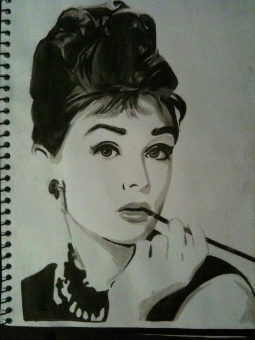 Audrey Hepburn por claireb